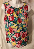 Women's Multi-Color Floral Top Size 4 by Talbots (02877)
