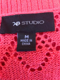 Women's Coral Knit Short Cardigan Size M by AB Studio (03712)