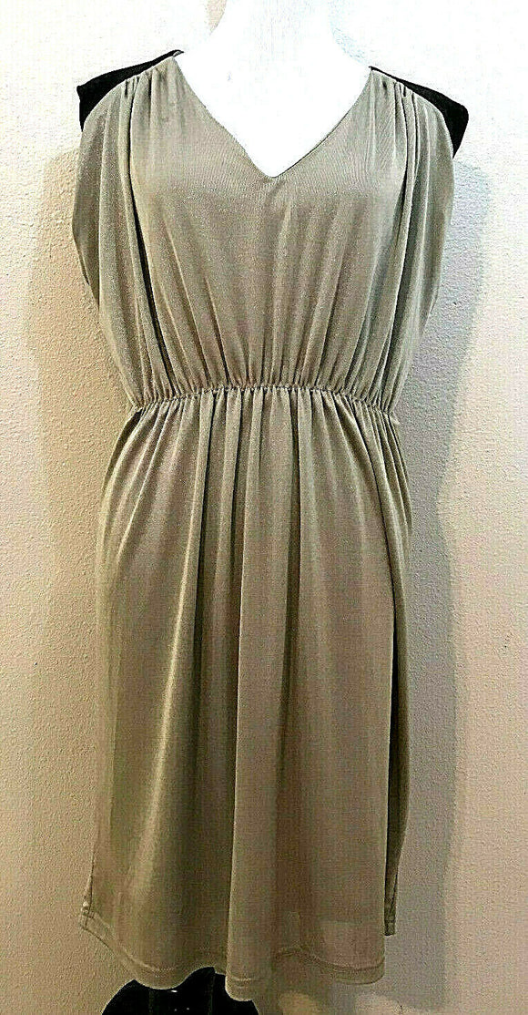 Women's Tan & Black Sparkly Dress Size XL by Kardashian Kollection (04249)