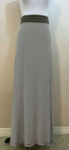 Women's Tan & White Striped Versatile Dress/Skirt Size M by Max Studio (04177)