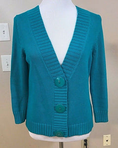 Women's Petite Aqua Sweater by Liz Claiborne (02925)