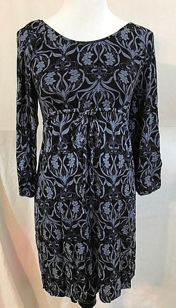 Women's Navy Blue Empire Waist Floral Dress Size XS by Soma (03381)