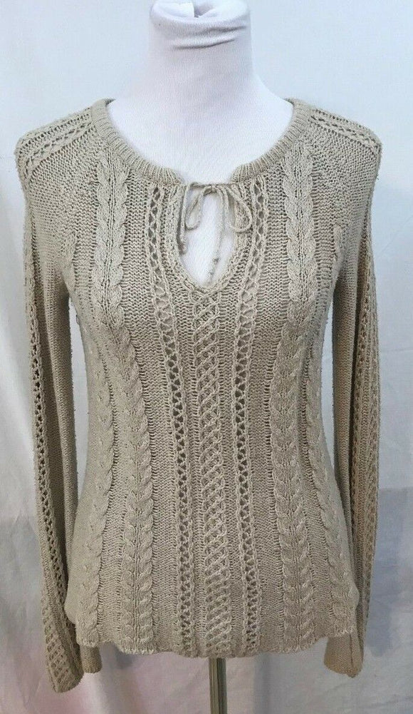 Women's Tan Knit Sweater Size S by American Eagle Outfitters (03468)