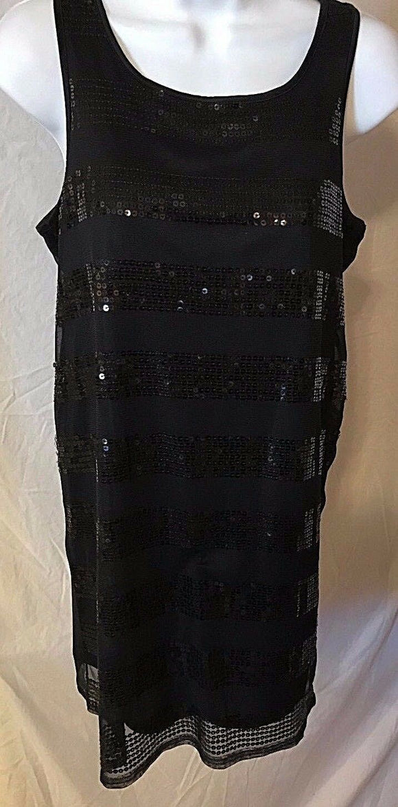 Women's Black Beaded Embellished Tunic Size XS by Newport News (02639)