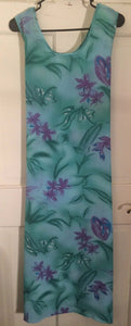 Women's Green Floral Tie Back Dress Size XL by Just Love (01775)