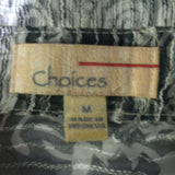 Women's Black & White Sheer Blouse Size M by Choices (00943)