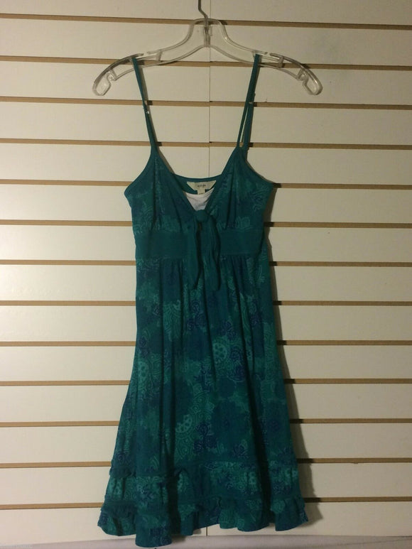 Women's Green & Blue Floral Mini Dress Size M by Energie (01390)