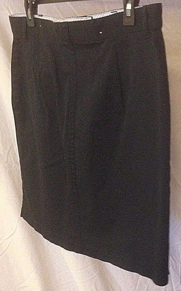 Women's Black Loose Straight Skirt Size 14 by Tommy Hilfiger (02366)