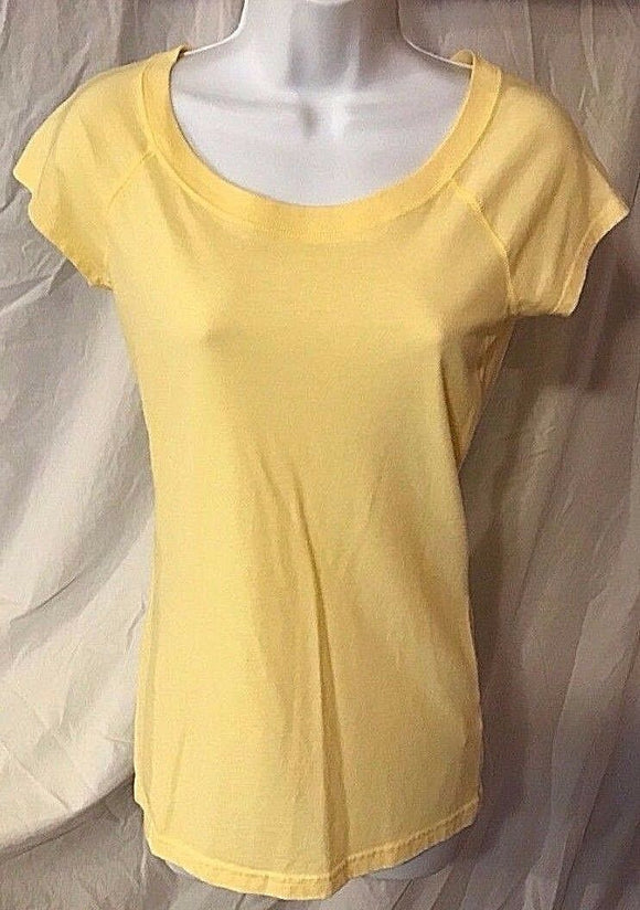 Women's Yellow Tee Shirt Size M by SO (02526)
