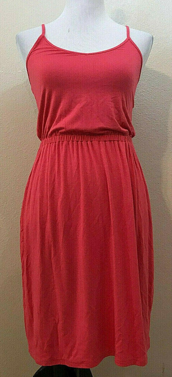 Women's Coral V-Neck Spaghetti Strap Knit Dress by Old Navy (04216)