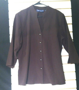 Women's Brown Blazer Size L by Susan Graver (00776)