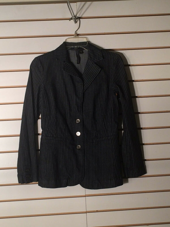Women's Charcoal PIn-Striped Blazer Size XS  by Nine West Jeans (01628)