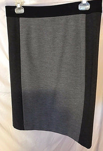 Women's Black & Gray Paneled Skirt Size 8 by Ann Taylor (02744)