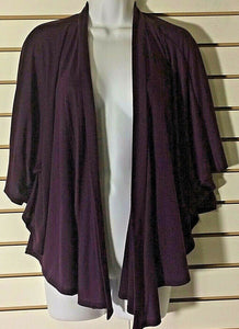 Women's Purple Asymmetrical Front Open Cardigan Size M  (01436)