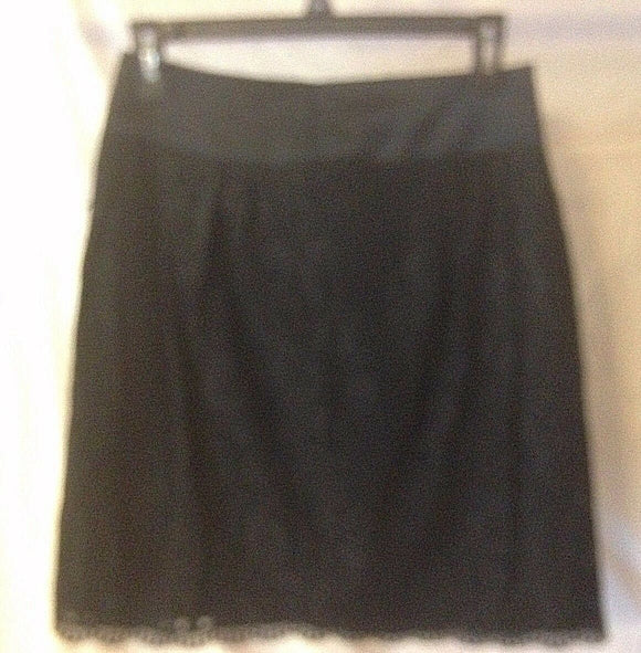 Women's Black Lace A-Line Skirt Size 2 by Worthington (02368)