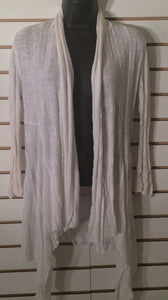 Women's Oversize Ecru Ribbed Cardigan Size S by INC International Concepts (01919)