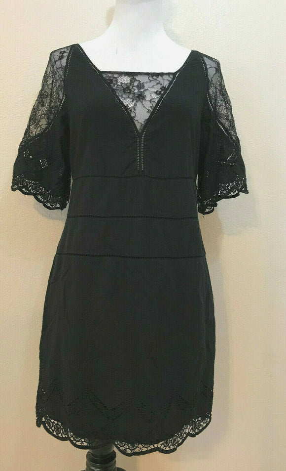 Women's Black Dress w/Lace Trim by Bailey/44 (04244)
