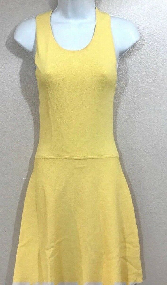 Women's Yellow Stretch Dress Size XS by 7th Avenue NY & Co. (04091)