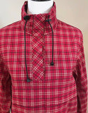 Women's Petite Red Plaid Pull Over Jacket Size PXL by Norton Studio Petite (02932)