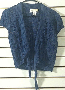 Women's Blue Knit Vest Size M by Jones New York Sport (00670)