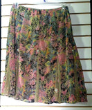 Women's Green Multi-Color Floral Skirt Size M by Dimri (00741)