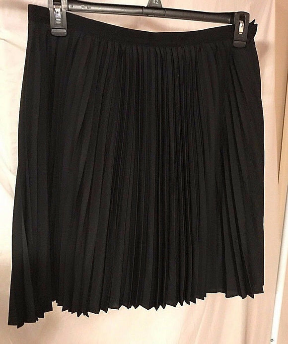 Women's Black Accordian Pleated Skirt Size 12 by Jason Wu For Target (02898)