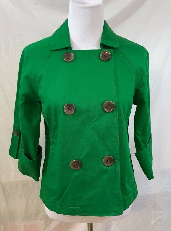 Women's Green Double Breasted Jacket Size S by Old Navy (03088)
