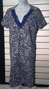 Women's Blue & White Dress by Basic Editions (00623)