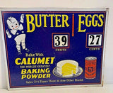 "VINTAGE ANTIQUE Style Metal Sign Calamut Baking Powder 14x11"" (M124)"