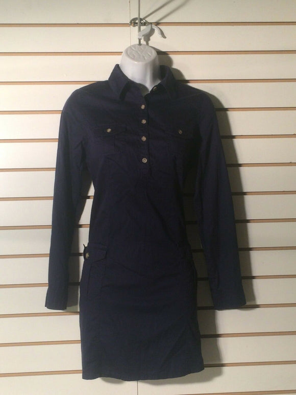 Women's Petite Navy Blue Shirt Dress by Old Navy (01311)