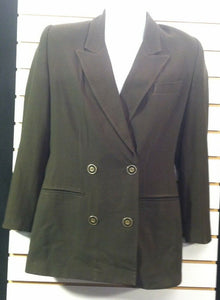 Women's Green Blazer Size 4 by Atrium Collection (00137)