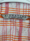 Women's Multi-Color Striped Shirt by Signature Size XL by Larry Levine (00604)