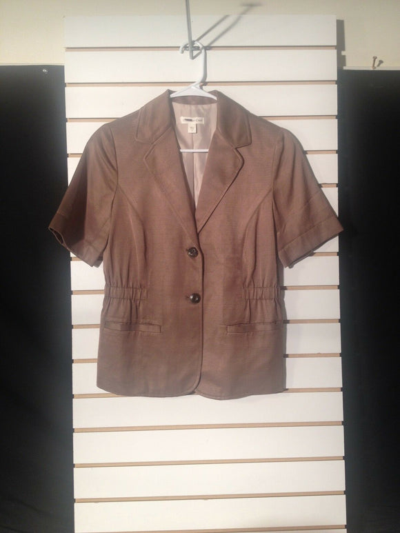 Women's Short Sleeve Copper Colored Blazer Size 4 by Coldwater Creek (01039)