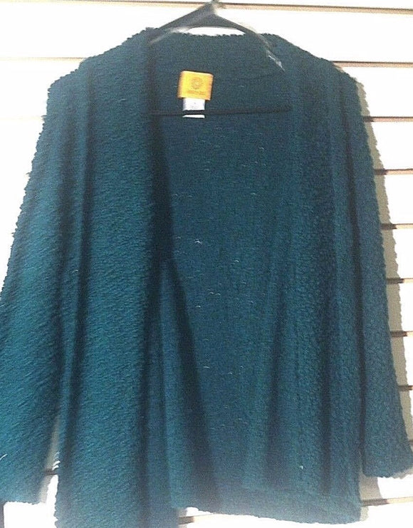Women's Hunter Green Textured Cardigan Size M by Ruby Rd. (00971)
