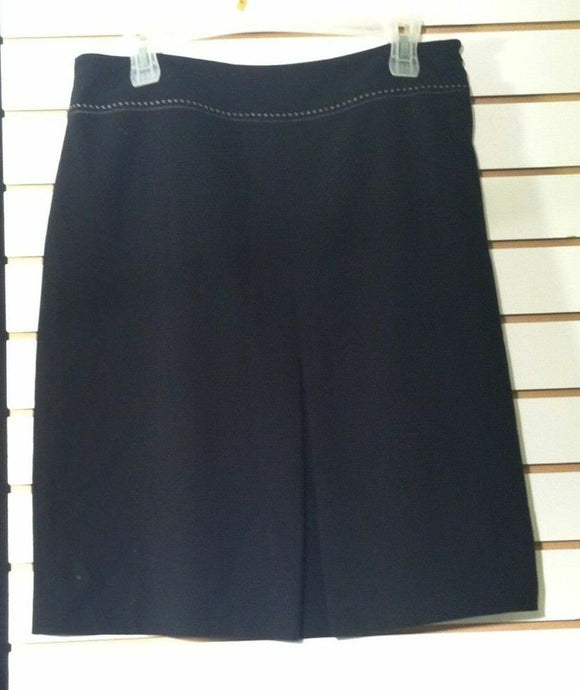 Women's Black A-Line Skirt Size 10 by Uniform John Paul Richard (00876)