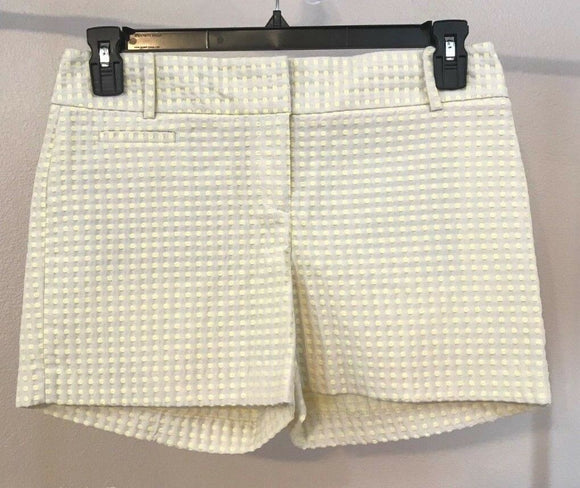 Women's Yellow Polka Dot Dress Shorts by Ann Taylor LOFT (03974)