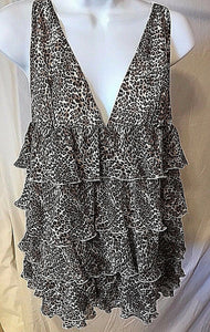 Women's Brown Animal Print Lingerie Top by Victoria's Secret (02636)