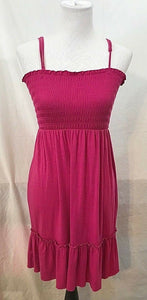 Women's New Fuchsia Empire Waist Size S by Carol's (03428)