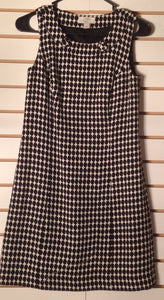 Women's Petite White & Black Dress Size 0P by Ann Taylor LOFT (01551)