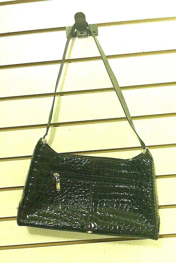 Women's Brown Faux Alligator Square Purse by New Coast (P112)