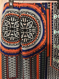 Women's Orange & Blue Multi-Color Decorative Skirt Size XL by Sharagano (02912)
