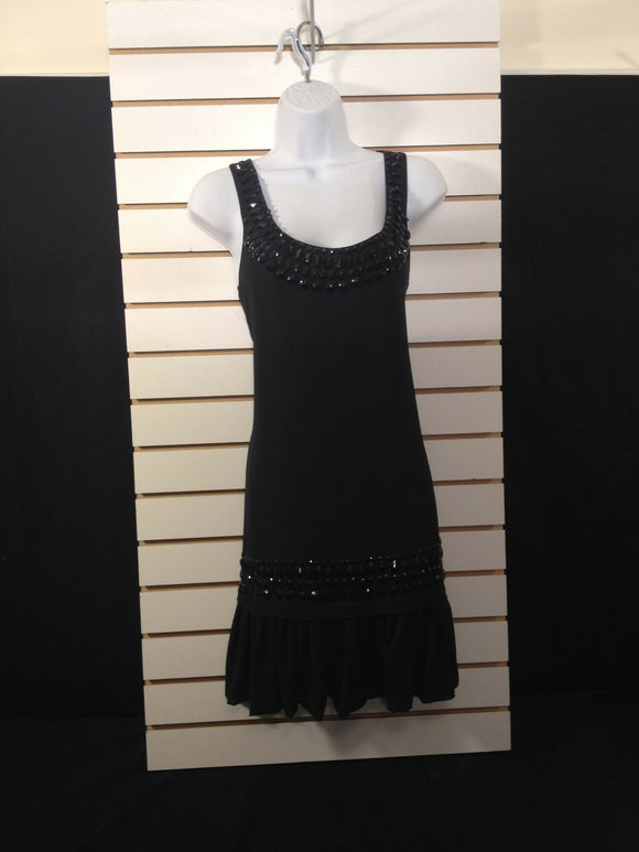 Women's Beaded Black Dress by Twenty One (00263)