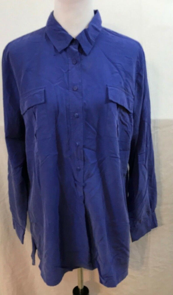 Women's Purple Button Down Pull Over Tunic Size 3 by Chico's (03547)