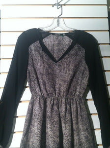 Women's Black & Gray Animal Print Dress by Doe & Rae (01239)