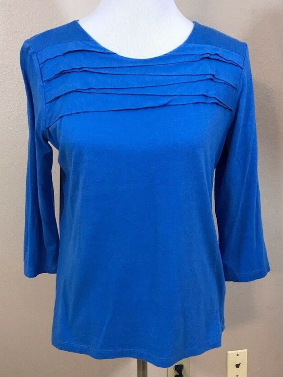 Women's Blue Layered Top Size M by Liz Claiborne (02995)