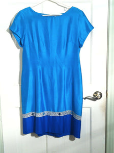 Women's Teal Blue Dress by Jessica Howard (00617)