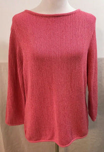 Women's Pink Overgrown Sweater Size XL by Liz Claiborne (03622)
