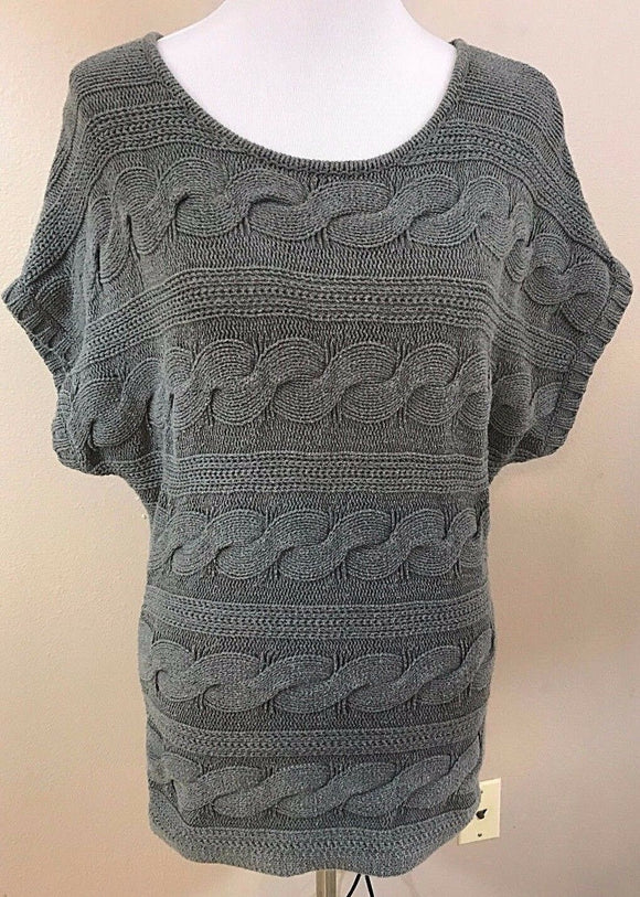 Women's Gray Braided Design Sweater Top Size S by Express (03017)
