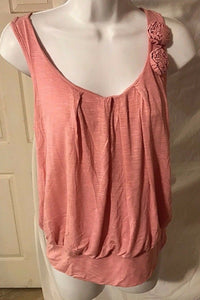 Women's Pink Rose Embellished Top Size S by Julie's Closet (02883)