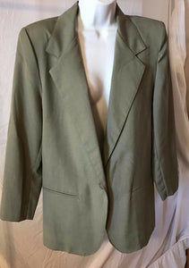 Women's Light Green Blazer Size 8 by Petites by Fundamental Things (02618)